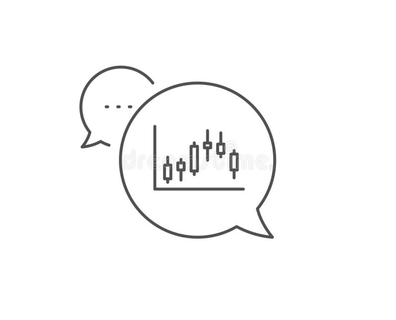 Ljusstakediagramlinje symbol Finansiell graf vektor stock illustrationer