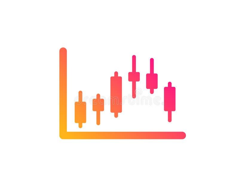 Ljusstakediagramsymbol Finansiell graf vektor vektor illustrationer
