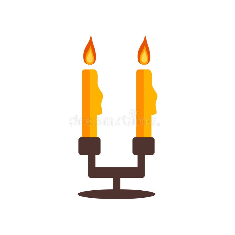 Ljusstakesymbolsvektor som isoleras på vit bakgrund, Candlestic stock illustrationer