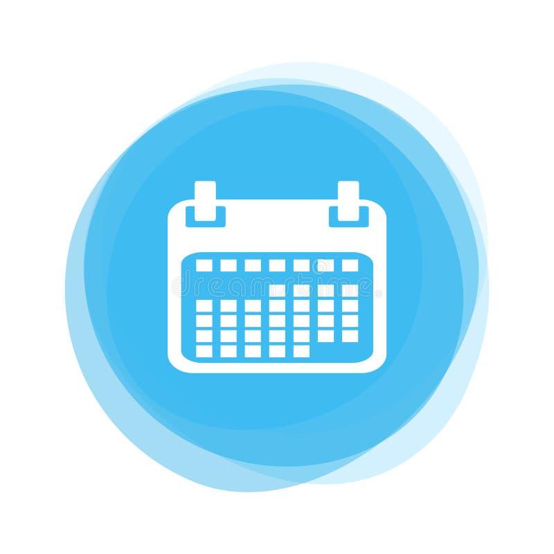 Ljust - blå knapp: Kalender royaltyfri illustrationer