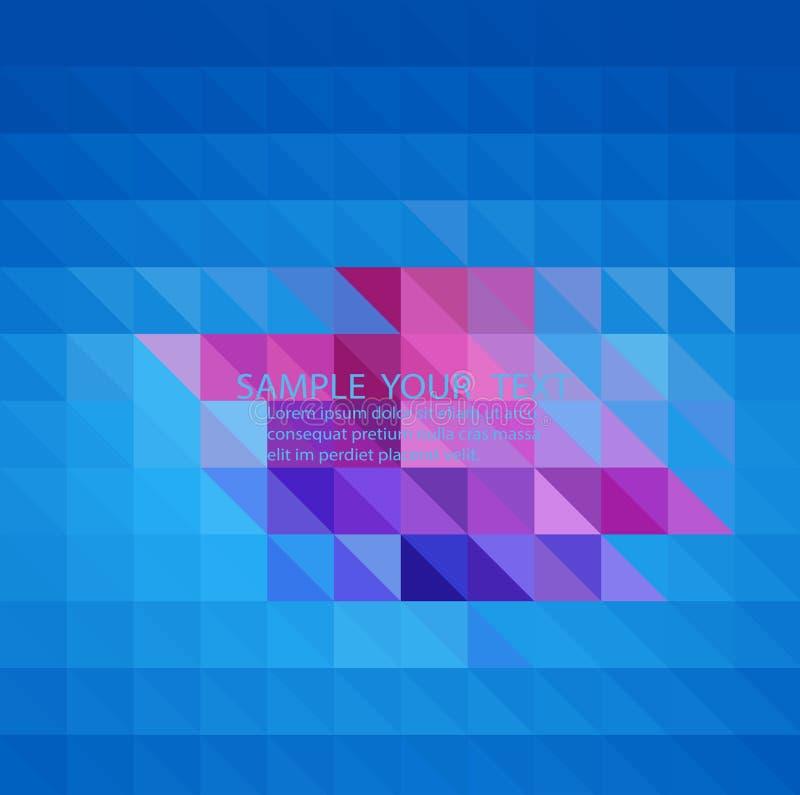 Ljust - blå oskarp triangelbakgrund Den idérika geometriska illustrationen i origami utformar med lutning royaltyfri illustrationer