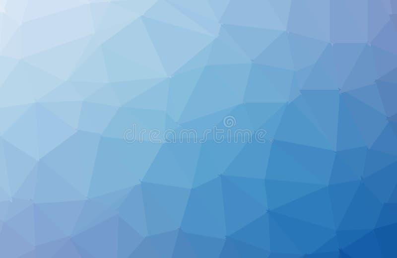 Ljust - blå vektor som skiner den triangulära bakgrunden Geometrisk illustration i origamistil med lutning En fullständigt ny des stock illustrationer