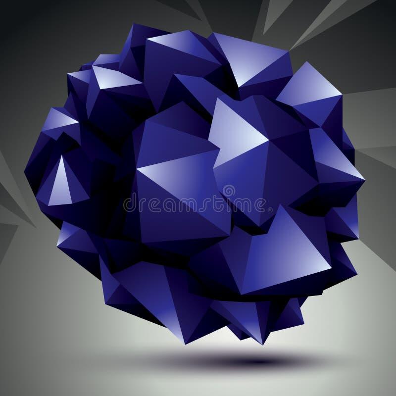 Ljust digitalt objekt för rumslig vektor, fikonträd för teknologi 3d royaltyfri illustrationer