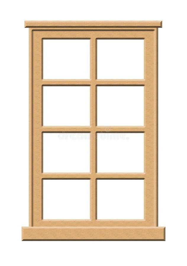 ljust fönsterträ royaltyfri illustrationer