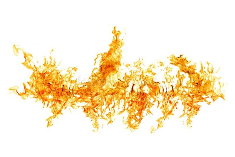 Ljust flamma band som isoleras på vit royaltyfri illustrationer