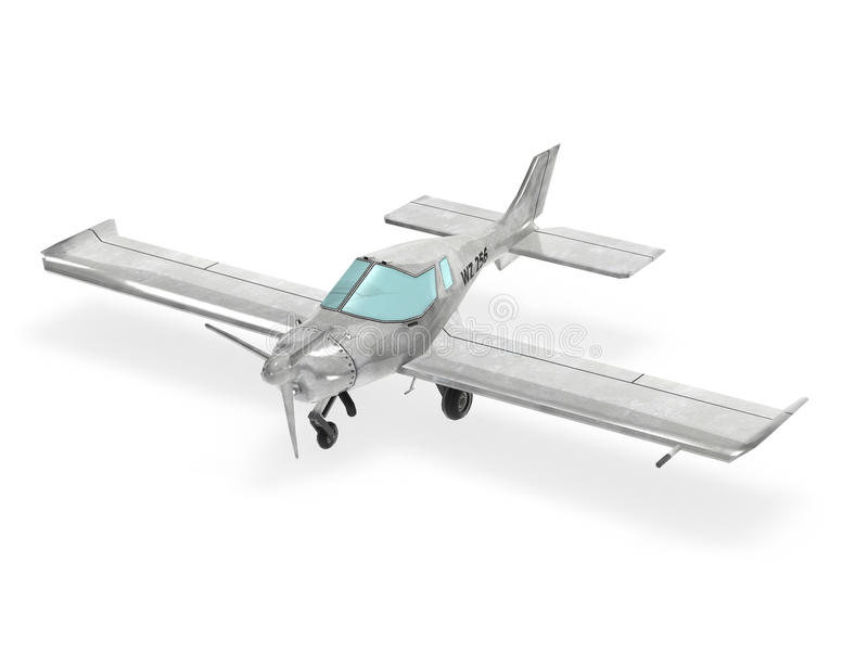Ljust flygplan royaltyfri foto