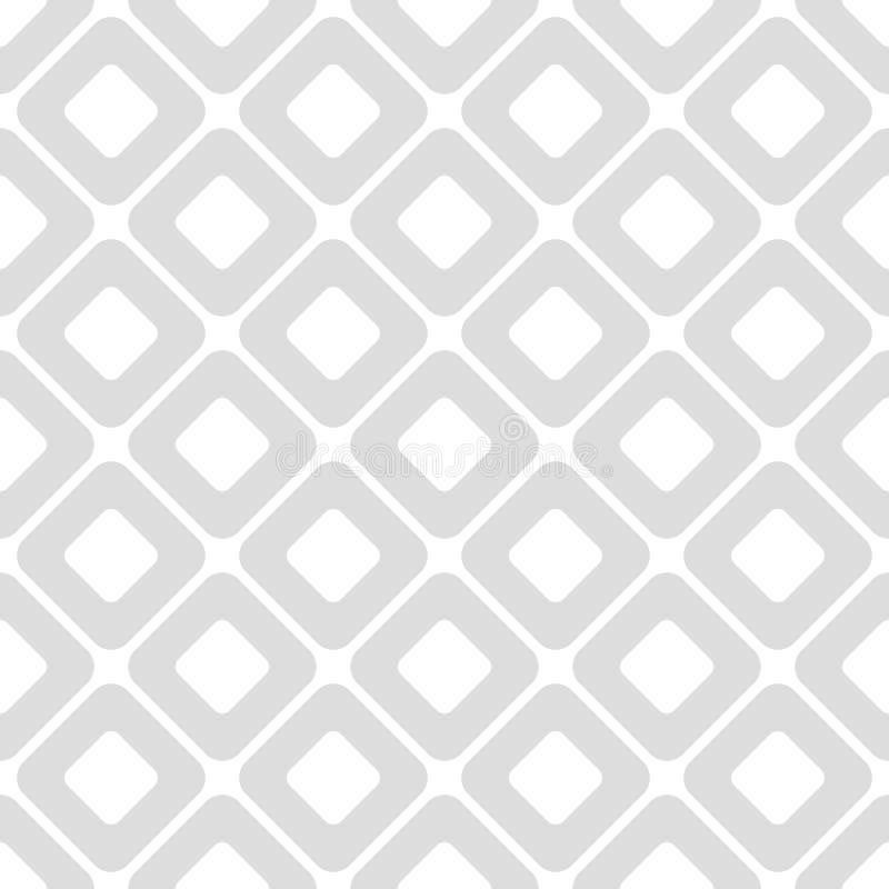 Ljust - grå geometrisk sömlös vektormodell med rombformer stock illustrationer