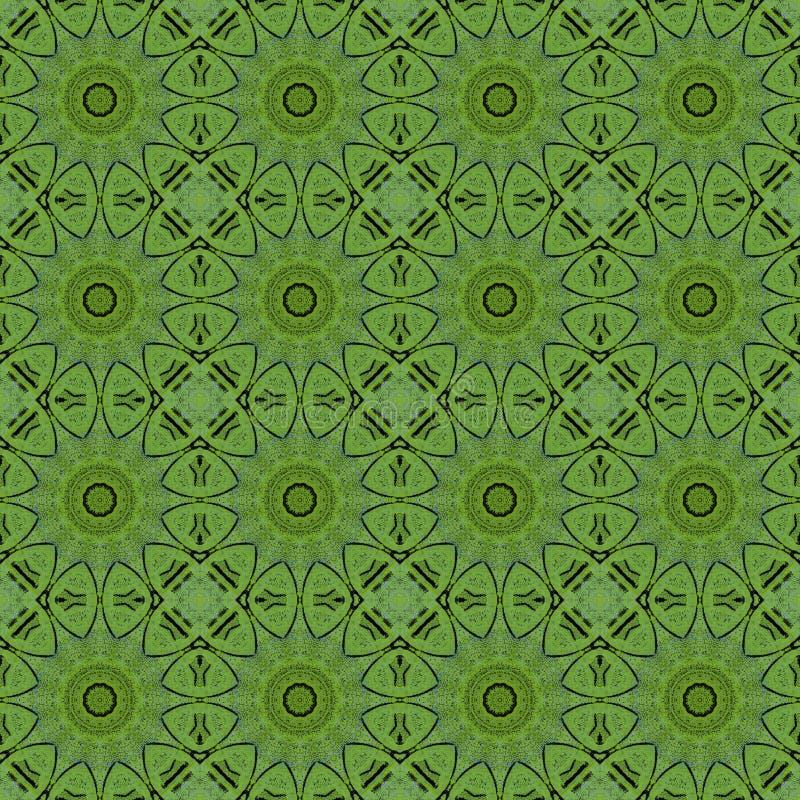 Ljust - grön abstrakt sömlös texturmodellillustration stock illustrationer