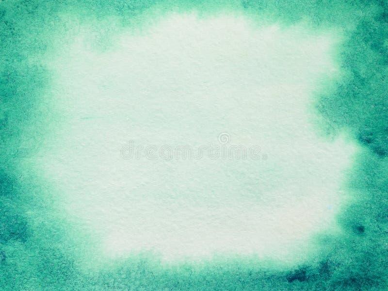 Ljust - grön abstrakt vattenfärgbakgrund arkivbild
