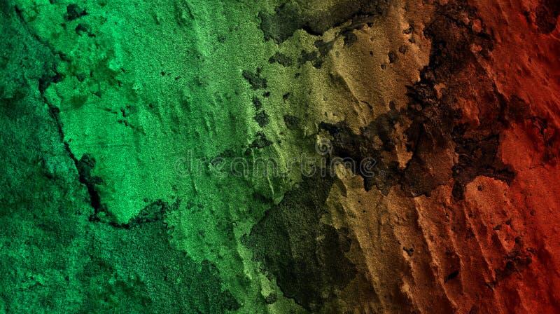 Ljust - grön illustration för vektor för tapet för bakgrund för effekter för blandning för röd färg för rubin abstrakt vägg textu vektor illustrationer