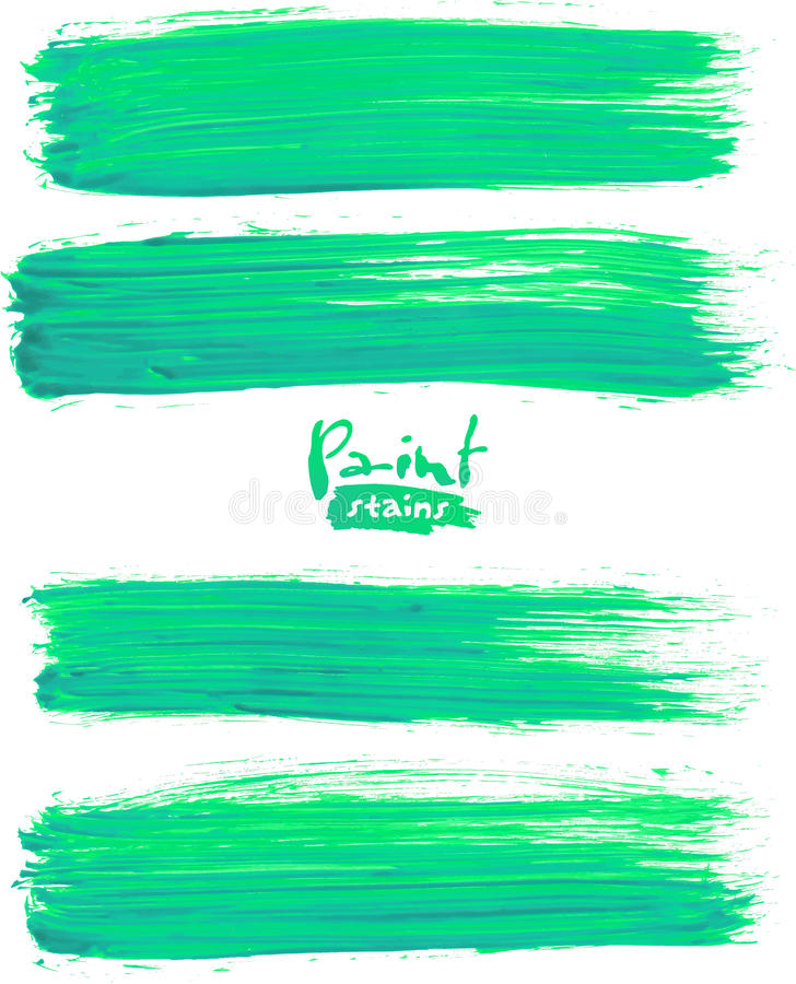 Ljust - gröna akrylborsteslaglängder royaltyfri illustrationer