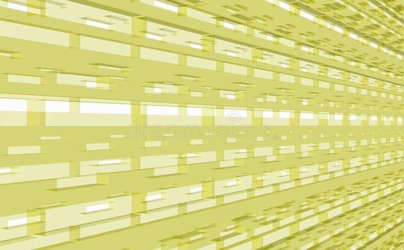 Ljust - gult i perspektiv av strukturen med över panelljuset royaltyfri illustrationer