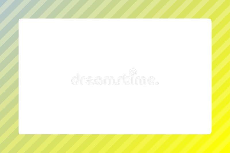 Ljust gult mellanrum för fyrkant för bakgrund för mall för rengöringsduk för färgrambaner och kopieringsutrymme för annon vektor illustrationer