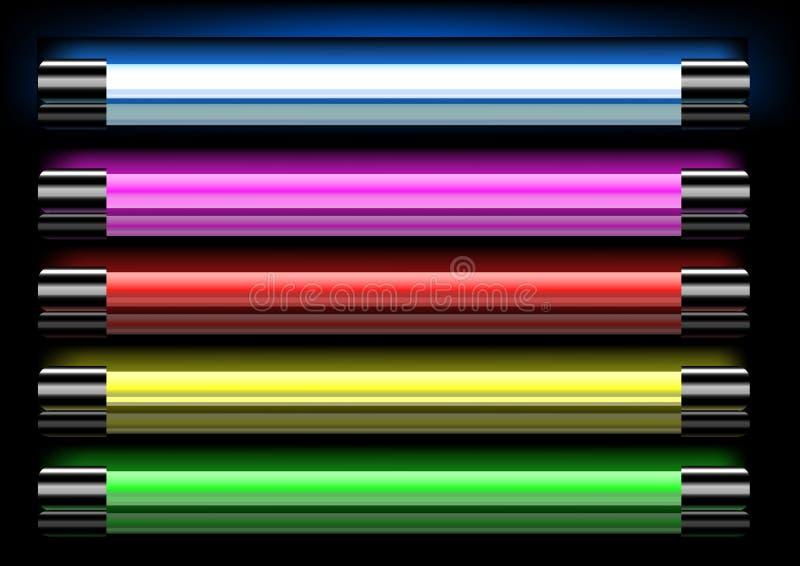 ljust neon vektor illustrationer