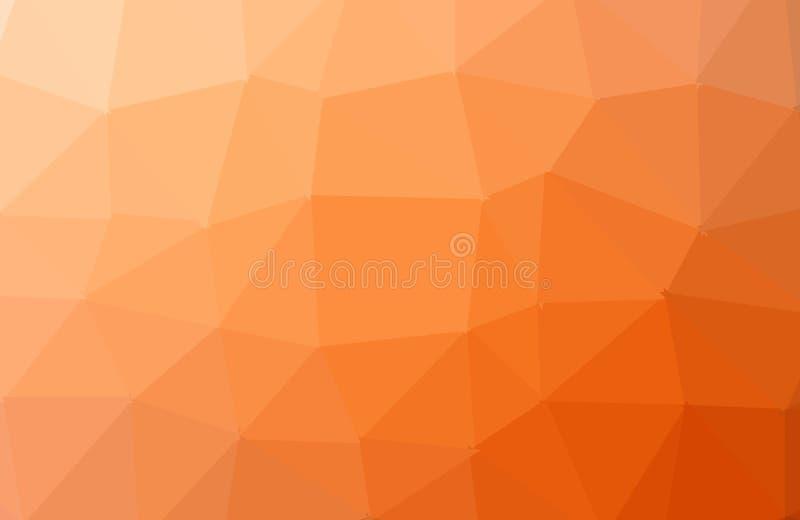 Ljust - orange bakgrund för vektortriangelmosaik Splitterny kul?r illustration i oskarp stil med lutning En ny textur f?r vektor illustrationer