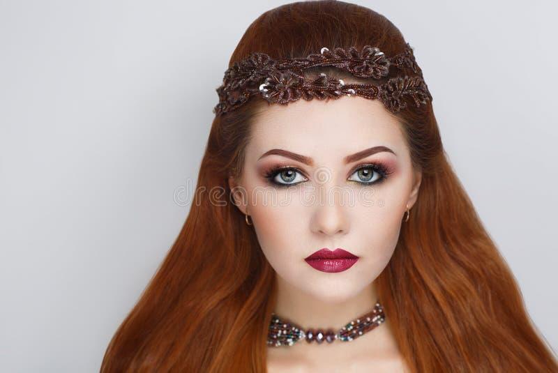 Ljust orange hår royaltyfri foto