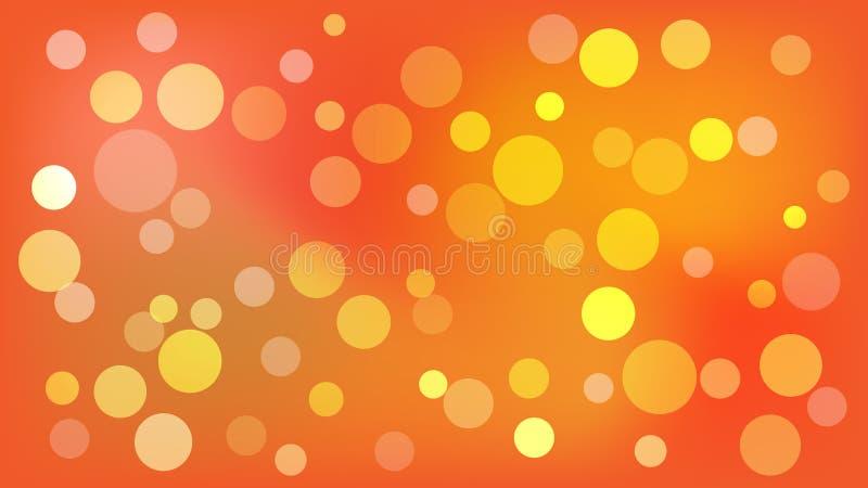 Ljust - orange vektorbakgrund med cirklar Illustration med upps?ttningen av att skina f?rgrik gradering Modell f?r h?ften, brosch vektor illustrationer