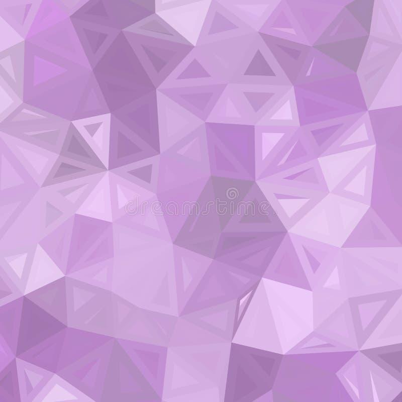 Ljust - oskarp sexhörningsmall för purpurfärgad vektor Gl?nsande illustration, som best?r av trianglar Triangul?r modell f?r royaltyfri illustrationer