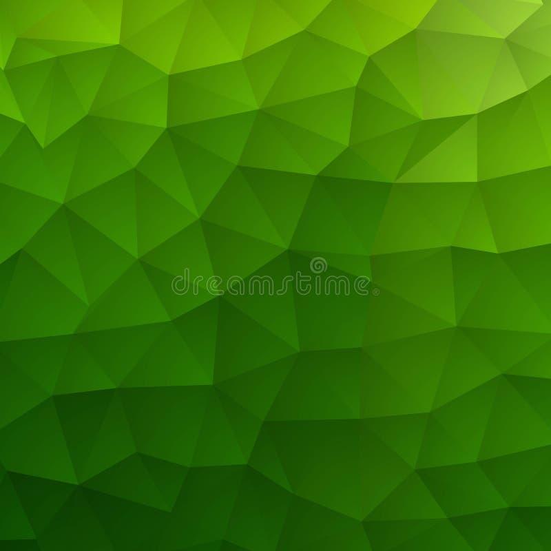 Ljust - oskarp sexh?rningsmodell f?r gr?n vektor Den id?rika geometriska illustrationen i origami utformar med lutning E royaltyfri illustrationer