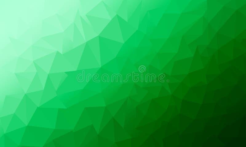 Ljust - Polygonal abstrakt bakgrundsstil för grön modell med den härliga illustrationen för lutning vektor illustrationer