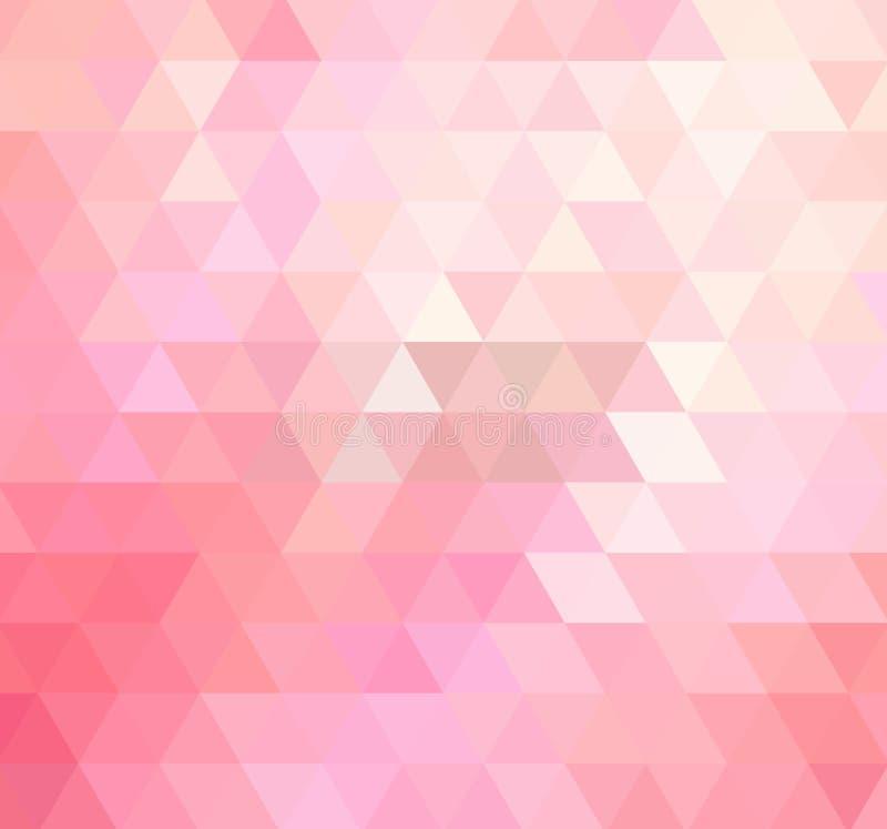 Ljust - polygonal mall för rosa vektor Färgrik illustration i abstrakt stil med trianglar royaltyfri illustrationer