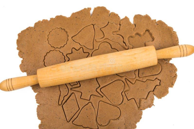 Ljust rödbrun deg för kex arkivbild