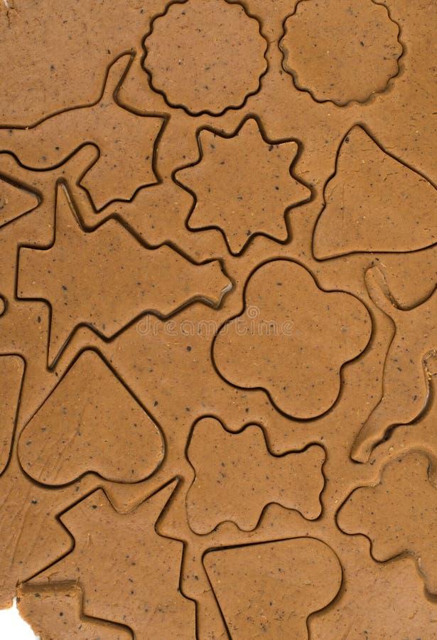 Ljust rödbrun deg för kex arkivbilder