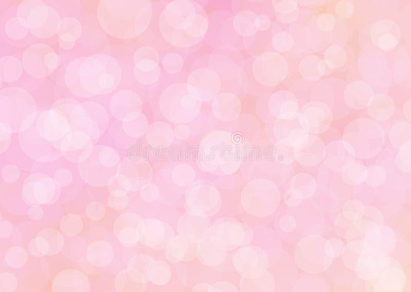 Ljust - rosa abstrakt begrepp blänker bokeh vektor illustrationer