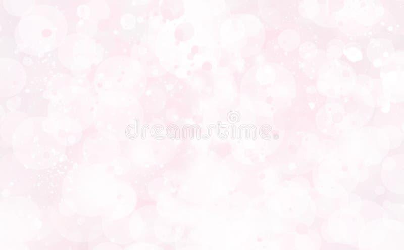 Ljust - rosa abstrakt begrepp blänker bokeh royaltyfri bild