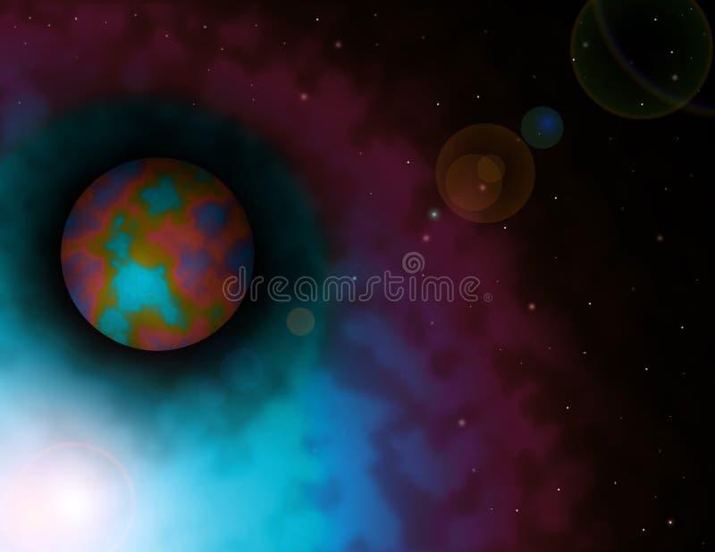 ljust skiner stjärnan stock illustrationer