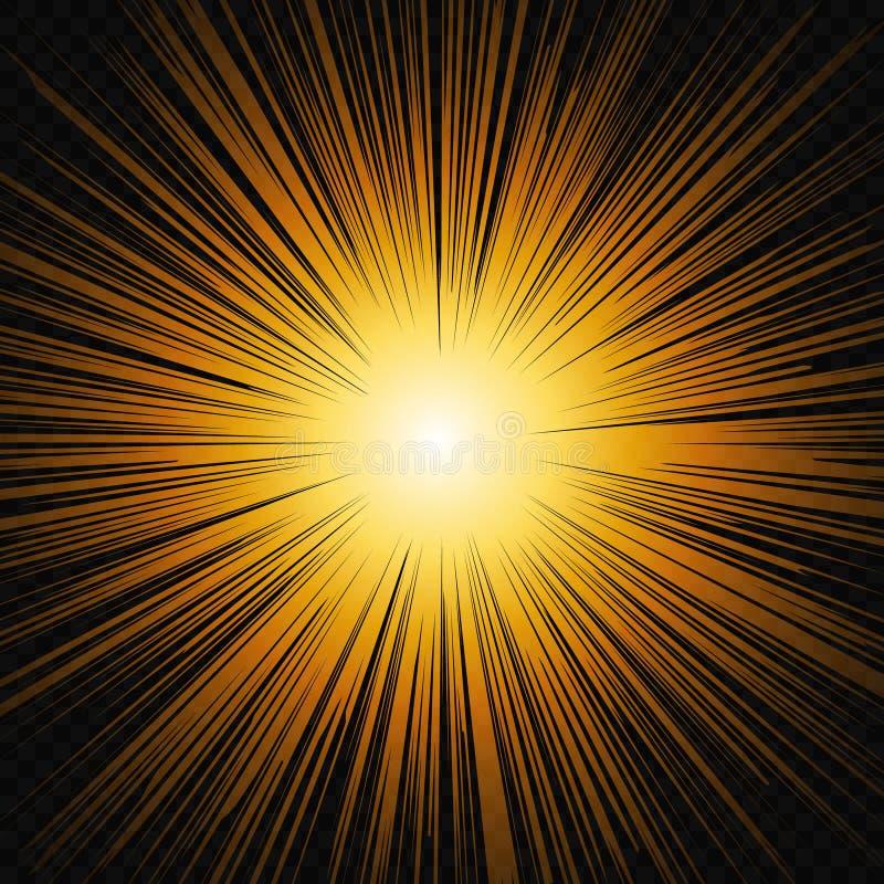 Ljust solskengl?d stock illustrationer