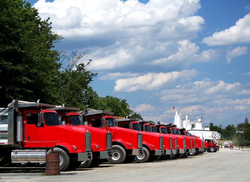 LKW-Flotte lizenzfreies stockfoto