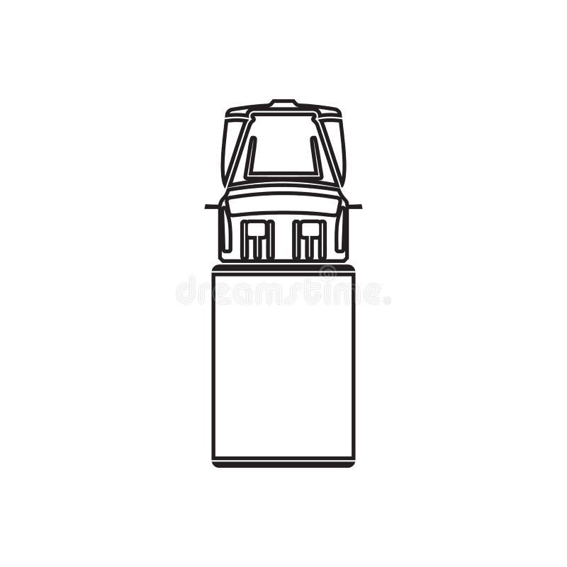 LKW-Ikone Element der Transportansicht von oben f?r bewegliches Konzept und Netz Appsikone Entwurf, d?nne Linie Ikone f?r Website stock abbildung