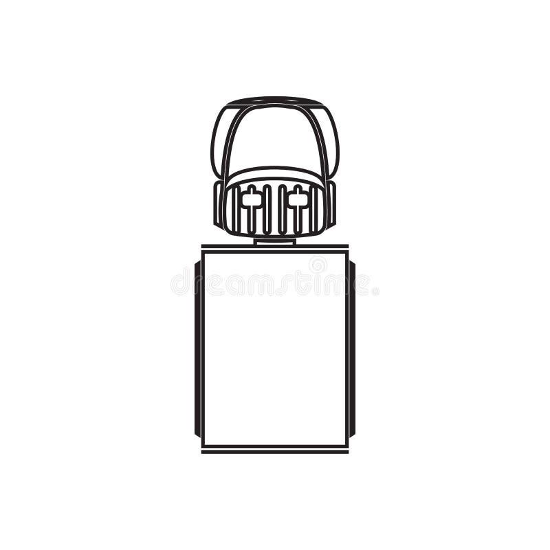 LKW-Ikone Element der Transportansicht von oben f?r bewegliches Konzept und Netz Appsikone Entwurf, d?nne Linie Ikone f?r Website lizenzfreie abbildung