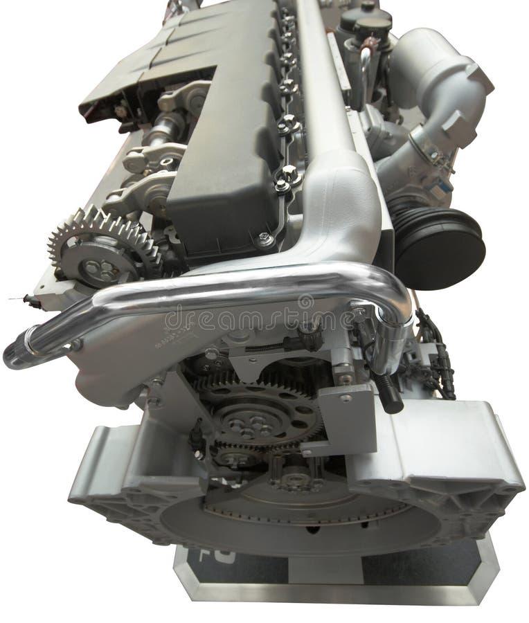 LKW-Motor, getrennt über Weiß stockbild