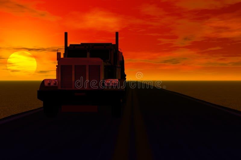 LKW-Schattenbild stock abbildung
