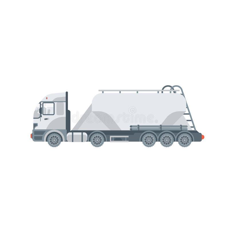 LKW-Transportsand, Zement mischt Seitenansicht lizenzfreie abbildung