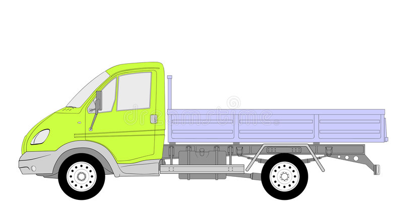 Download Lkw truck vector stock vector. Image of large, automotive - 8332981