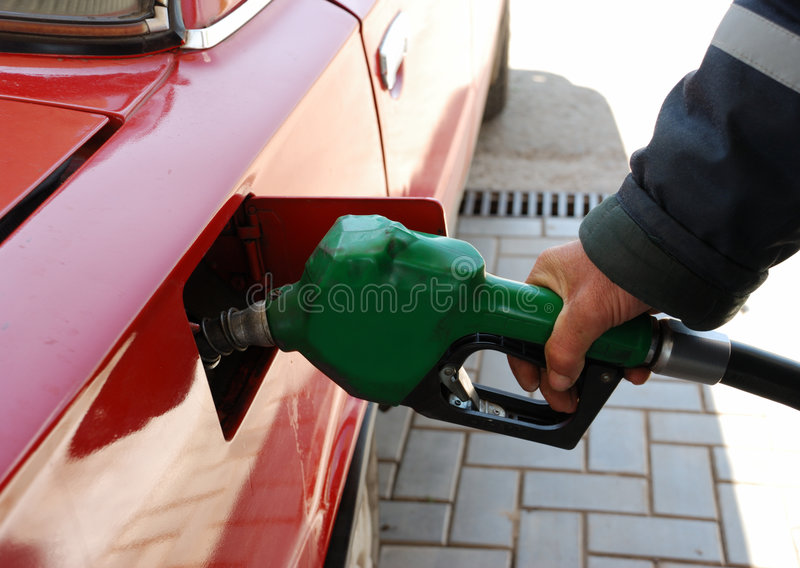 Llénese de la gasolina imagenes de archivo