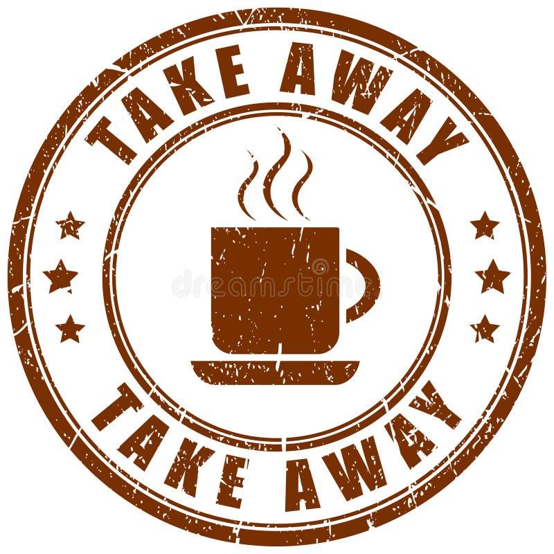 Llévese el sello del café libre illustration