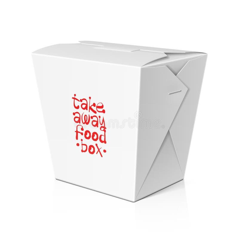 Llévese la comida, caja de los tallarines stock de ilustración