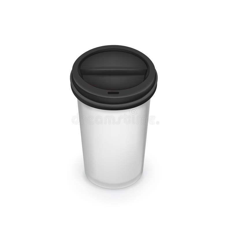 Download Llévese La Taza De Café Aislada En Blanco Ilustración del Vector - Ilustración de cafeína, latte: 42439375