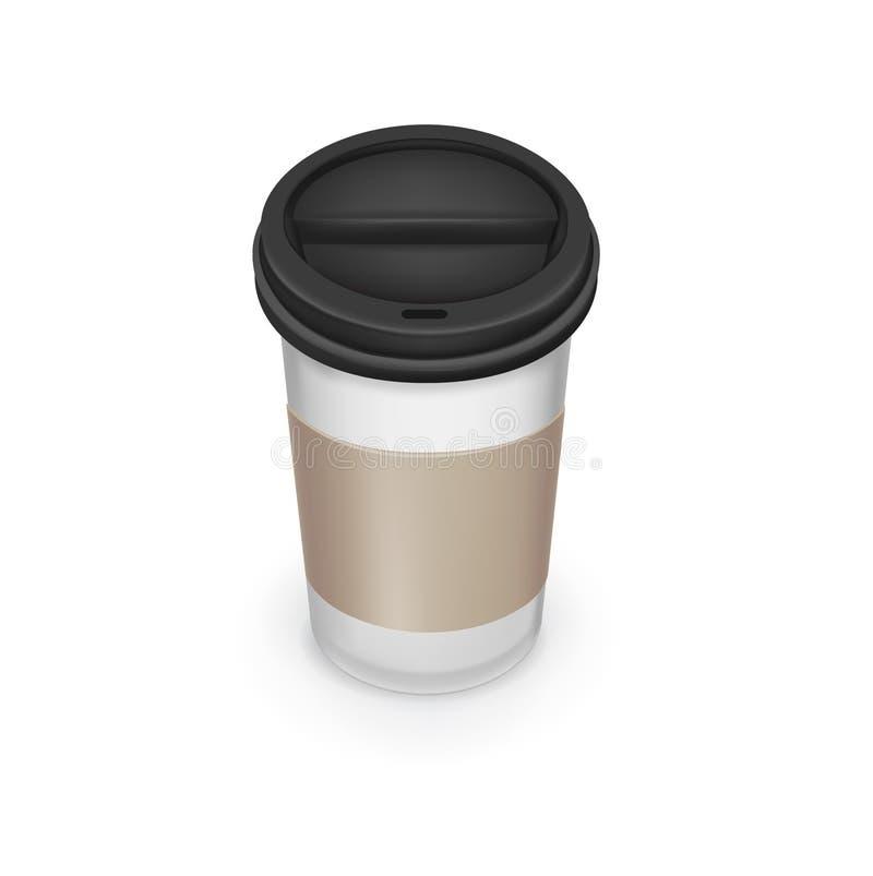 Download Llévese La Taza De Café Con Cartulina Ilustración del Vector - Ilustración de negro, ingrediente: 42439380