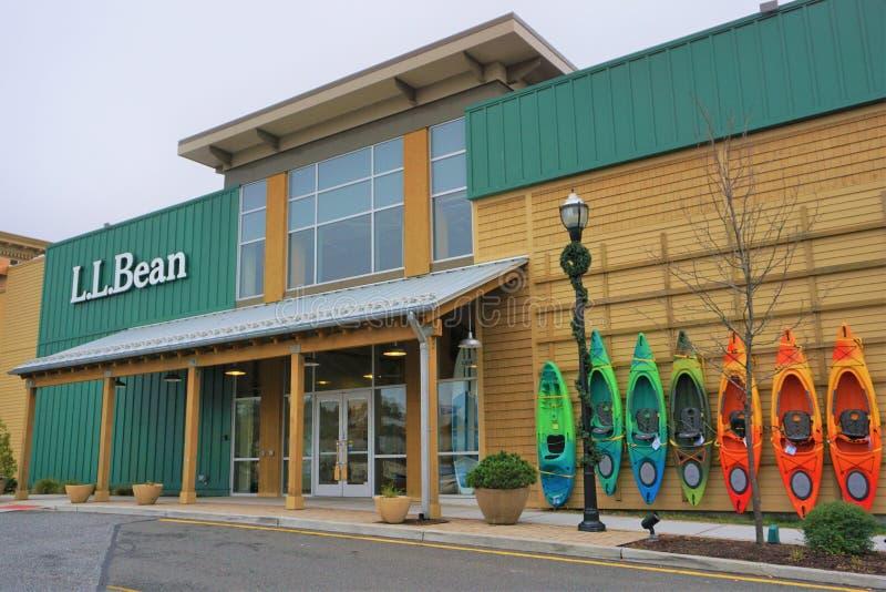 LL φασόλι storefront στη λεωφόρο Danbury, Κοννέκτικατ στοκ εικόνα με δικαίωμα ελεύθερης χρήσης