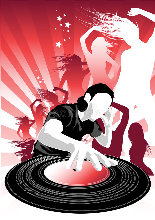 Ll de passion de musique illustration libre de droits