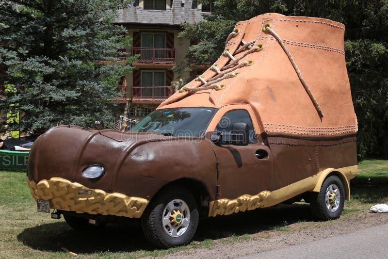 LL fasola Bootmobile fotografia royalty free
