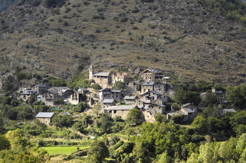 Lladrosmountains, Lleida, Spain village in the Cardos Valley ,Pyrenees royalty free stock photo