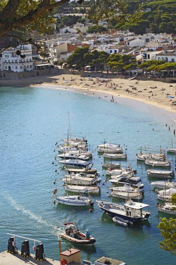 Llafranc, Costa Brava, Girona, España foto de archivo