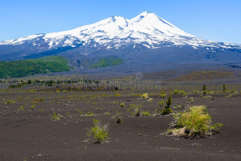Llaima vulkan, Conguillio nationalpark, Chile arkivfoton