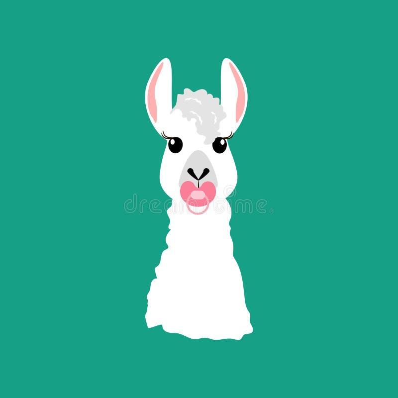 Llama με τη θηλή απεικόνιση αποθεμάτων